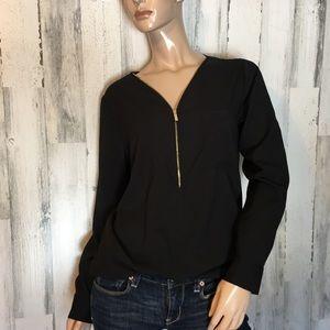 Calvin Klein Black Zip Up Top